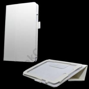 LG G Pad 8.0 (V480) Tok álló, bőr (FLIP, mágneses, oldalra nyíló, asztali tartó funkció, tolltartó) FEHÉR