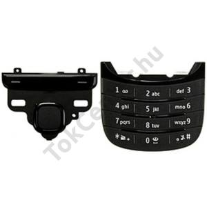 Nokia C2-05 Készülék billentyűzet készlet (alsó és felső) FEKETE