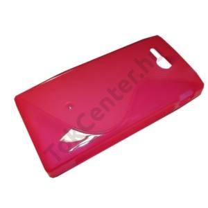 Sony Xperia U (ST25i)  Telefonvédő gumi / szilikon (S-line) RÓZSASZÍN