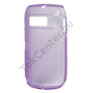Nokia E6-00 Telefonvédő gumi / szilikon (S-line) LILA