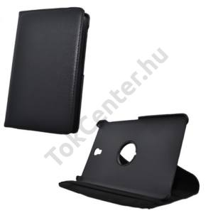 Samsung Galaxy Tab S 8.4 LTE (SM-T705) Tok álló, bőr (FLIP, asztali tartó funkció, 360°-ban forgatható) FEKETE