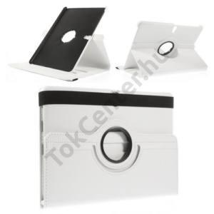 Samsung Galaxy Tab S 10.5 LTE (SM-T805) Tok álló, bőr (FLIP, asztali tartó funkció, 360°-ban forgatható) FEHÉR