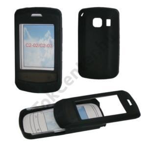 Nokia C2-02 Telefonvédő gumi / szilikon FEKETE
