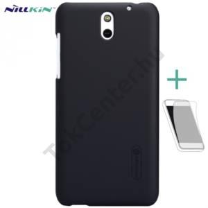 HTC Desire 610 NILLKIN SUPER FROSTED műanyag telefonvédő (gumírozott, érdes felület, képernyővédő fólia, tisztítókendő) FEKETE