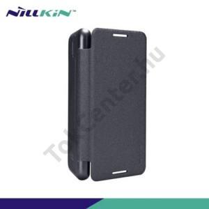 HTC Desire 610 NILLKIN SPARKLE műanyag telefonvédő (mikroszálas bőr flip, oldalra nyíló) FEKETE