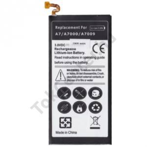 Samsung Galaxy A7 (SM-A700F) Akku 2300 mAh LI-ION (belső akku, beépítése szakértelmet igényel! EB-BA700ABE kompatibilis)