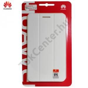 Huawei Mediapad T1 7 Tok álló, bőr (FLIP, oldalra nyíló) FEHÉR