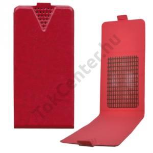 UNIV tok álló, bőr (FLIP, NANOPAD szerű készülék rögzítés, 4,8'' készülékekhez) PIROS