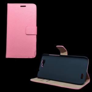 Huawei Ascend G7 Tok álló, bőr (FLIP, mágneses, oldalra nyíló, bankkártya  tartó, asztali tartó funkció) RÓZSASZÍN