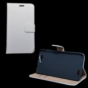 Huawei Ascend G7 Tok álló, bőr (FLIP, mágneses, oldalra nyíló, bankkártya  tartó, asztali tartó funkció) FEHÉR