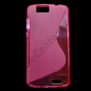 Huawei Ascend G7 Telefonvédő gumi / szilikon (S-line) RÓZSASZÍN