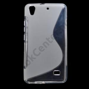 Huawei Ascend G620s Telefonvédő gumi / szilikon (S-line) ÁTLÁTSZÓ