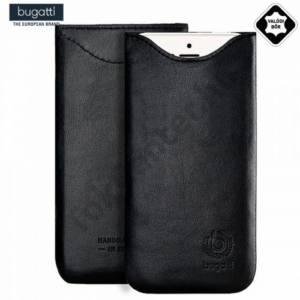 Apple iPhone 6 Plus 5.5`` BUGATTI SLIMFIT álló tok, valódi bőr (iPhone 6 Plus 5.5'' méret) FEKETE