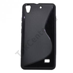 Huawei Ascend G620s Telefonvédő gumi / szilikon (S-line) FEKETE