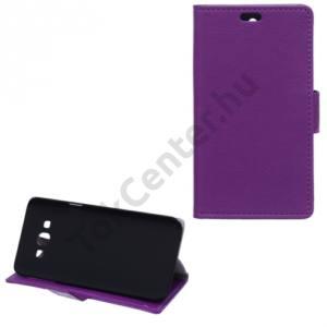 Samsung Galaxy A8 (SM-A800F) Tok álló, bőr (FLIP, oldalra nyíló, asztali tartó funkció) LILA