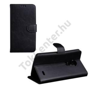 LG G Flex (D955) Tok álló, bőr (FLIP, mágneses,oldalra nyíló, bankkártya tartó, asztali tartó funkció) FEKETE