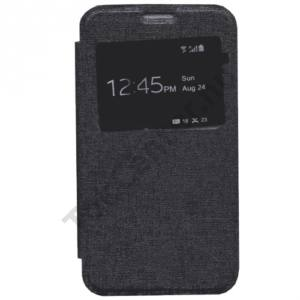 Sony Xperia E4g Tok álló, bőr (FLIP, oldalra nyíló, S-View Cover) FEKETE