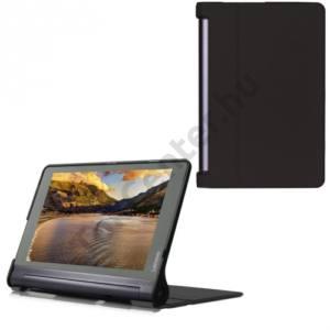 Lenovo Yoga Tab 3 Pro 10.1 Műanyag telefonvédő (bőr flip, asztali tartó funkció) FEKETE