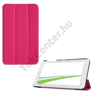 Univerzális Tok álló, bőr (FLIP, oldalra nyíló, TRIFOLD asztali tartó funkció) MAGENTA Acer Iconia One 7 B1-770