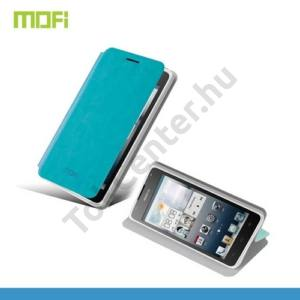 Huawei Ascend Y530 (C8813) MOFI RUI tok álló, bőr (FLIP, oldalra nyíló, asztali tartó funkció) VILÁGOSKÉK