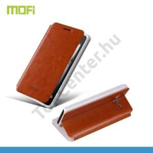 Huawei Ascend Y530 (C8813) MOFI RUI tok álló, bőr (FLIP, oldalra nyíló, asztali tartó funkció) BARNA