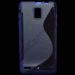 Huawei Ascend P1 Telefonvédő gumi / szilikon (S-line) KÉK