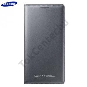 Samsung Galaxy Grand Prime (SM-G530F) Tok álló, bőr (FLIP, akkufedél, oldalra nyíló, bankkártya tartó) SZÜRKE