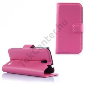 Alcatel Pop 2 4.5`` (OT-5042) Tok álló, bőr (FLIP, mágneses, oldalra nyíló, bankkártya  tartó, asztali tartó funkció) MAGENTA