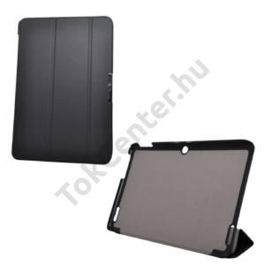 Univerzális Tok álló, bőr (FLIP, oldalra nyíló, TRIFOLD asztali tartó funkció) FEKETE Acer Iconia Tab 10 A3-A20