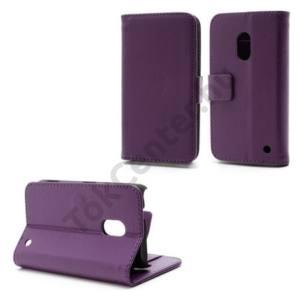 Nokia Lumia 620 Tok álló, bőr (FLIP, mágneses, oldalra nyíló, asztali tartó funkció, bankkártya tartó) LILA