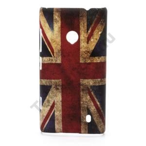 Nokia Lumia 520 Műanyag telefonvédő (zászlóminta) BRIT / ANGOL
