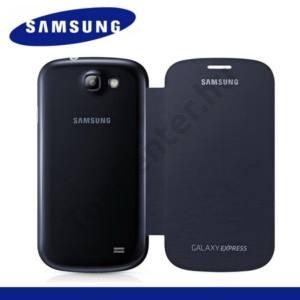 Samsung Galaxy Express (GT-I8730) Műanyag telefonvédő (oldalra nyíló) FLIP, SÖTÉTKÉK