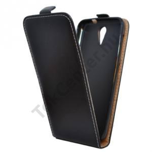 HTC Desire 620G Tok álló, bőr (FLIP, mágneses) FEKETE