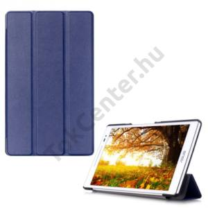 Asus ZenPad 8.0 (Z380KL) Tok álló, bőr (FLIP, oldalra nyíló, TRIFOLD asztali tartó funkció) SÖTÉTKÉK