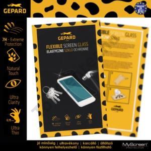 GEPARD képernyővédő fólia törlőkendővel (1 db-os, üveg, karcálló, ütésálló, 7H, 0.19mm vékony) FLEXI GLASS CLEAR