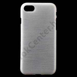 Apple iPhone 7 /APPLE IPhone 8 4,7`` Telefonvédő gumi / szilikon (szálcsiszolt mintázat) FEHÉR