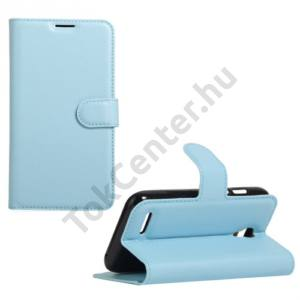 Alcatel Pixi 4 (3.5) (OT-4017) Tok álló, bőr (FLIP, oldalra nyíló, asztali tartó funkció) VILÁGOSKÉK