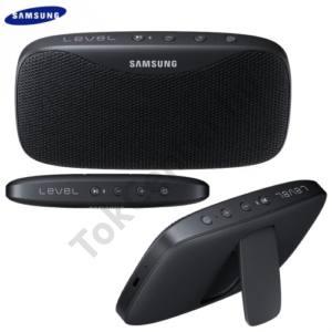 BLUETOOTH hordozható hangszóró (3.5 mm jack csatlakozó is, 2600 mAh akku, mikrofon, NFC, IPx7, Level Box SLIM) FEKETE