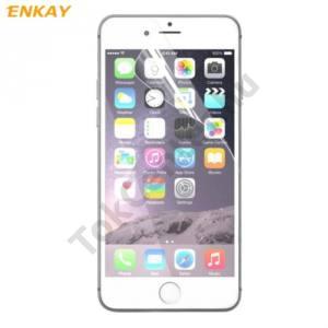 Apple iPhone 7 Plus /APPLE iPhone 8 Plus 5.5``  ENKAY képernyővédő fólia törlőkendővel (1 db-os, full screen, íves részre, öntapadós PET) CLEAR