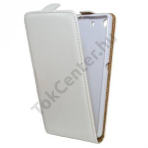 Sony Xperia M5 Tok álló, bőr (FLIP, mágneses) FEHÉR