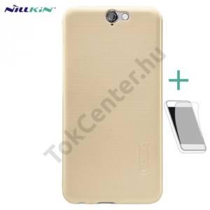 HTC One A9 NILLKIN SUPER FROSTED műanyag telefonvédő (gumírozott, érdes felület, képernyővédő fólia, tisztítókendő) ARANY