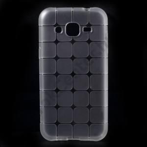 Samsung Galaxy J2 (SM-J200) Telefonvédő gumi / szilikon (kockaminta) ÁTLÁTSZÓ