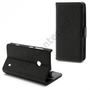 Nokia Lumia 520 Tok álló, bőr (FLIP, mágneses, oldalra nyíló, bankkártya tartó, asztali tartó funkció) FEKETE