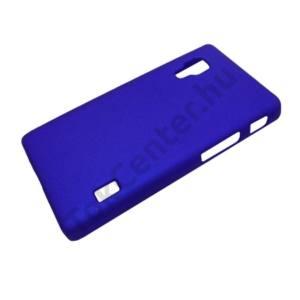 LG Optimus L5 II. (E460) Műanyag telefonvédő gumírozott SÖTÉTKÉK