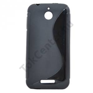 HTC Desire 510 Telefonvédő gumi / szilikon (S-line) FEKETE
