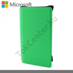 Microsoft Lumia 532 Műanyag telefonvédő (bőr flip, bankkártya tartó) ZÖLD