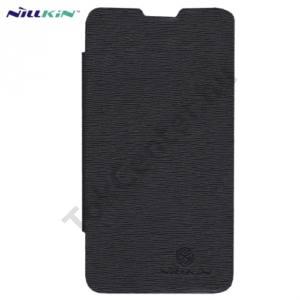 LG Optimus G (E975) NILLKIN ENLAND RETRO Műanyag telefonvédő (bőr flip, oldalra nyíló, képernyővédő fólia, tisztítókendő) FEKETE