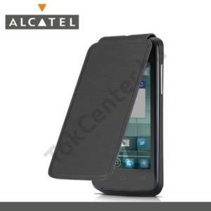 Alcatel MPop (OT-5020D) Műanyag telefonvédő (akkufedél, felfelé nyíló) FLIP, FEKETE