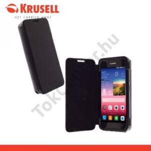 Huawei Ascend Y550 KRUSELL FlipCase DONSÖ műanyag telefonvédő (mágneses, oldalra nyíló bőr flip) FEKETE