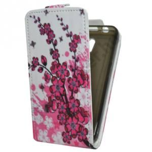 Lenovo A319 Tok álló, bőr (FLIP, mágneses, bankkártya tartó, virágminta) FEHÉR
